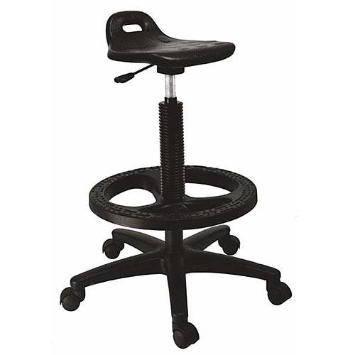 silla industrial ergonómica negra operativa