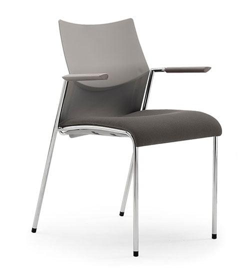 silla estructura metal asiento y respaldo polipropileno negr cromo nizza