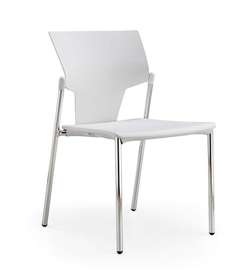 silla estructura metal asiento polipropileno blanco y respaldo polipropileno aktivia comedores foodcourt