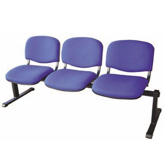 Banca de espera 3 personas azul modelo ISOC