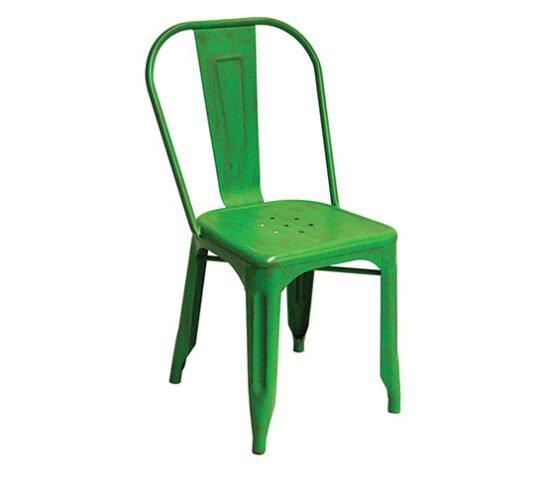 Silla metal Tolix color verde comedores y cafeterias
