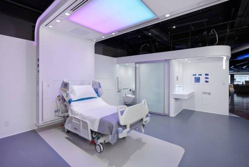 Muebles para hospitales y clinicas en corian color wlacier white