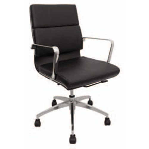 Silla para oficinas color negro y cromo modelo komodo mexico