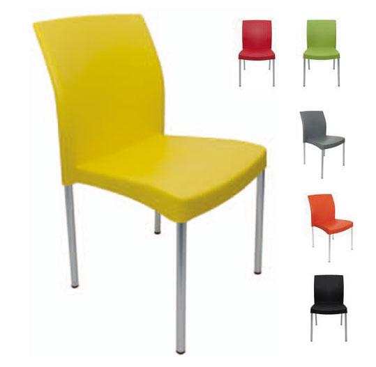 Sillas polipropileno restaurantes y cafeterias colores para eventos Ritmo aguilar