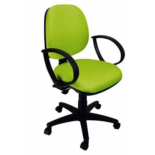 Silla operativa industrial secretarial verde ruedas avanta