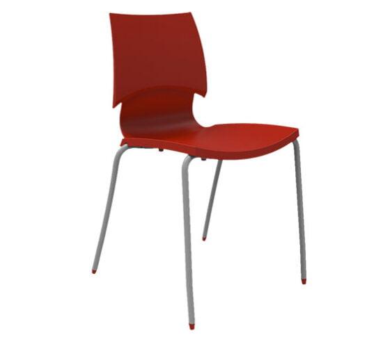 Silla metal con asiento y respaldo polipropileno Vino comedor industrial