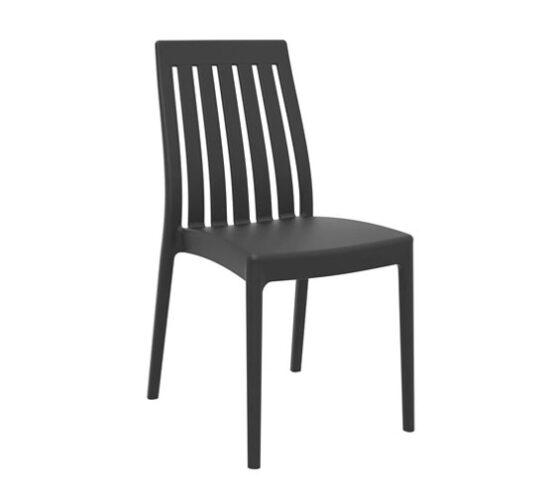 silla plastico negro foodcourt