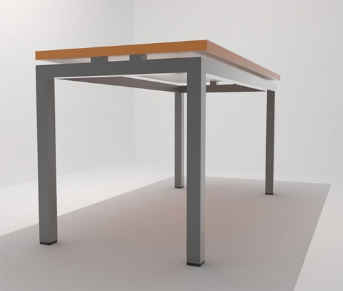 Mesa para comedor industrial rectangular Eins