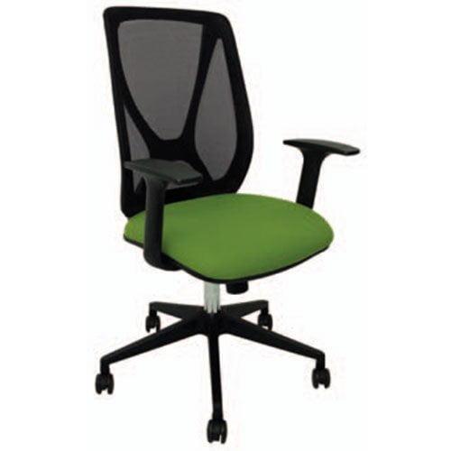 silla oficina verde alta operativa economica