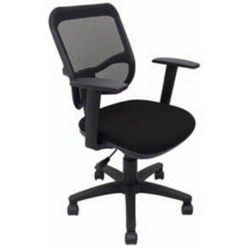silla oficina y hoteles comoda negra talk