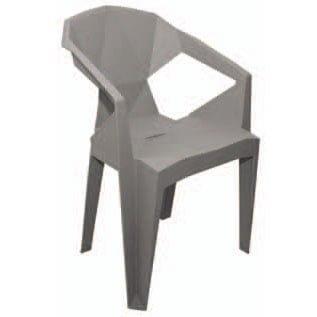 silla origami polipropileno gris exterior e interior