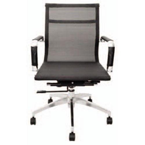 silla oficina clasica respaldo mesh bajo
