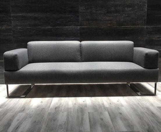 Sala 2 personas tela gris oxford para lobby y oficinas