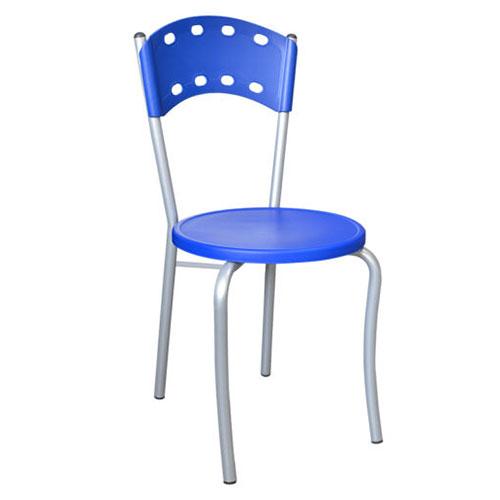 Silla clasica para comedores industriales y cafeterias azul