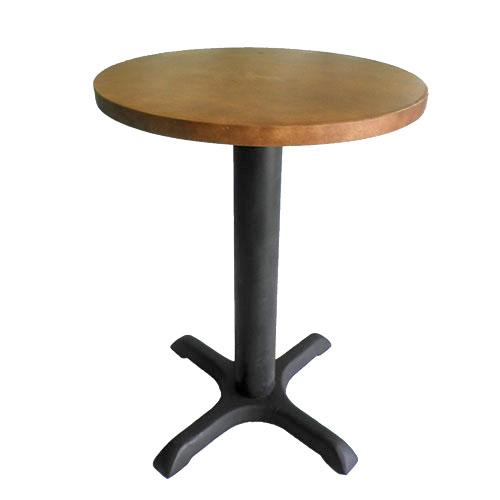 Mesa cruz pequeña cubierta circular café
