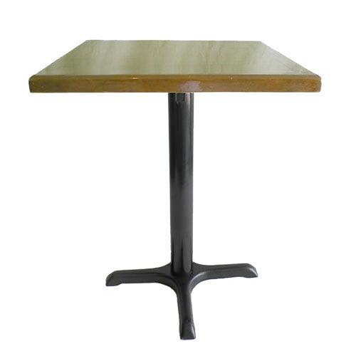 Mesa cruz negro cubierta cafe para comedores industriales, restaurantes y cafeterias