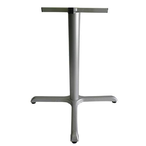 Base pedestal cruz negro en metal para mesas restaurantes y comedores