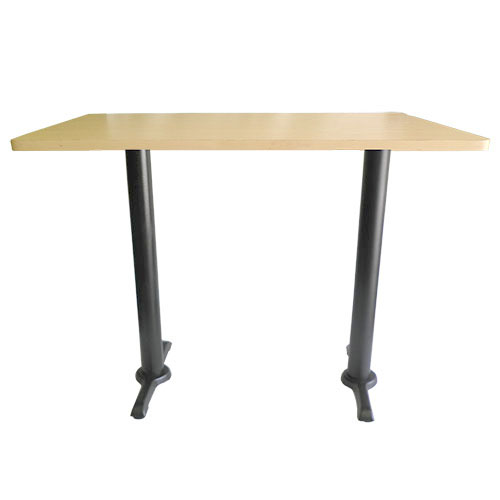 mesa rectangular doble bases patin cubierta laminado plastico