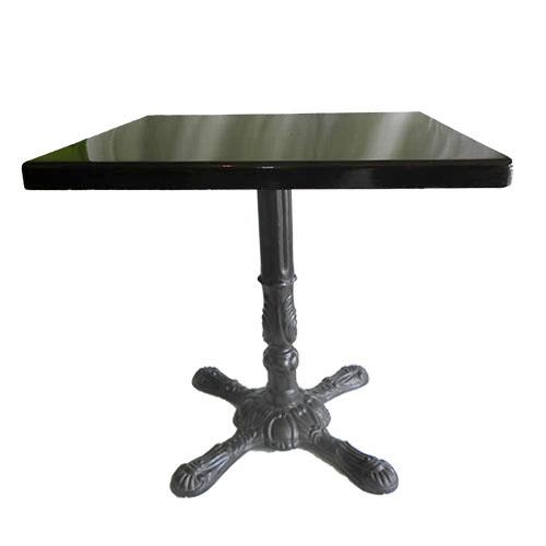 Mesa base para leon cubierta laminado para 4 personas color negro