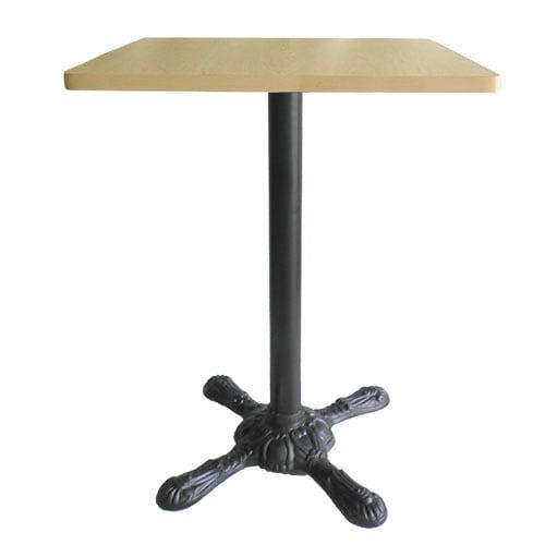 mesa pedestal vintage leon tubo alto color negro aluminio y metal