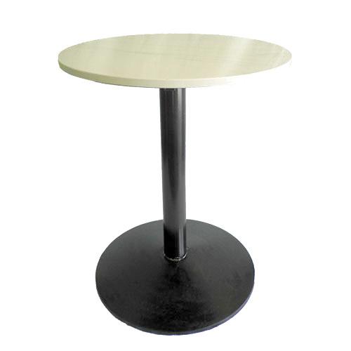 mesa pedestal circular con cubierta circular blanco marmol