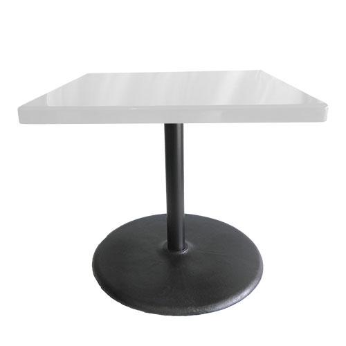 mesa pedestal tamaño JUMBO mesa cuadrado blanco