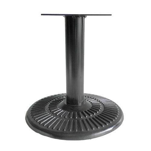 base pedestal negro circular calada para mesas restaurantes