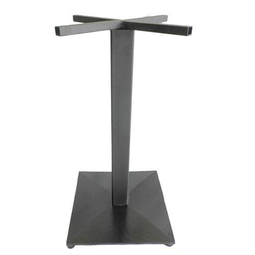 base pedestal cuadrado negro aluminio