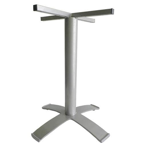 base para mesas pedestal cruz gris para mesas comedores y restaurantes