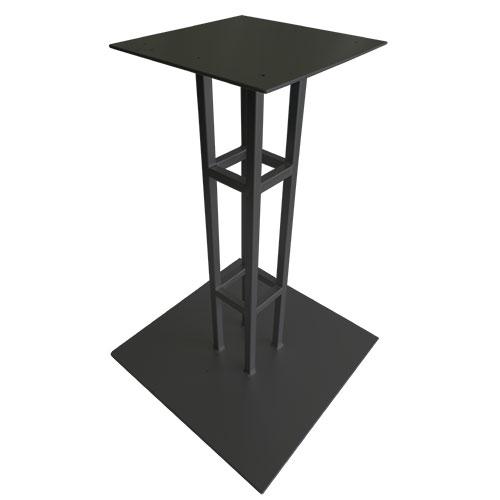 base cuadrada pedestal negro modelo torre