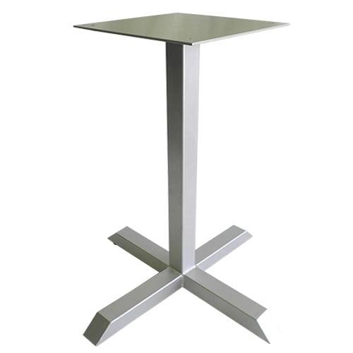 base pedestal metal cuadrado para mesas