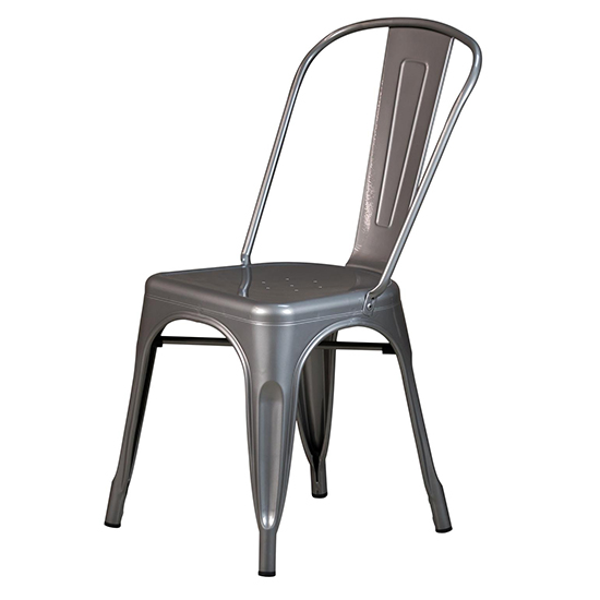 Silla replica Tolix metal restaurantes y cafeterías
