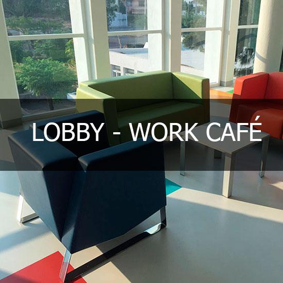 SALAS PARA LOBBY OFICINA WORK CAFE