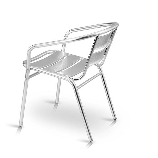 Silla aluminio baja silverchair aluminio cafeterias escuelas y restaurantes