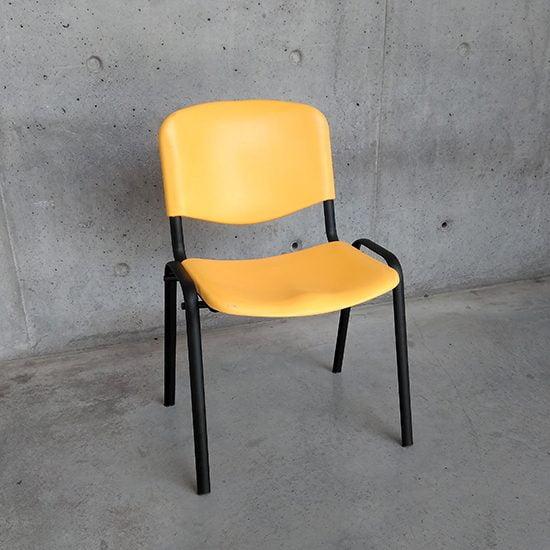 silla amarillo y negro comedores industriales resistente