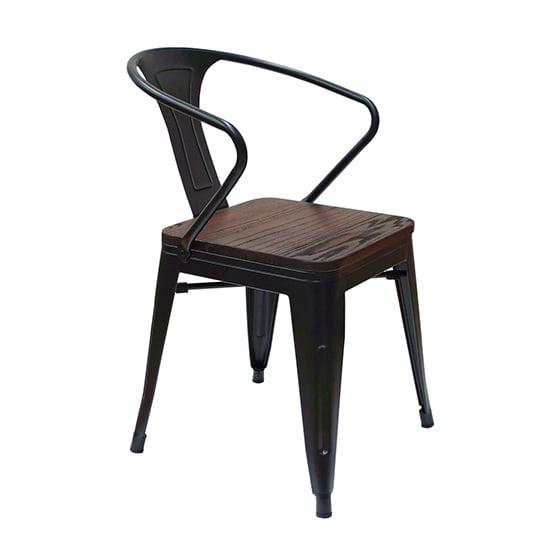 Silla para restaurantes metal y madera vintage Alexa