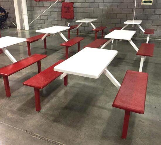 bancas picnic 4 personas rojo y blanco costco sams