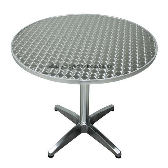 Mesa aluminio redonda para comedores 68 cm