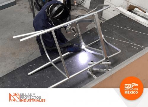 Fabricacion de sillas de metal para restaurantes y cafeterias en mexico monterrey