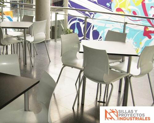 Sillas y mesas para cafeterias y comedores industriales en Monterrey