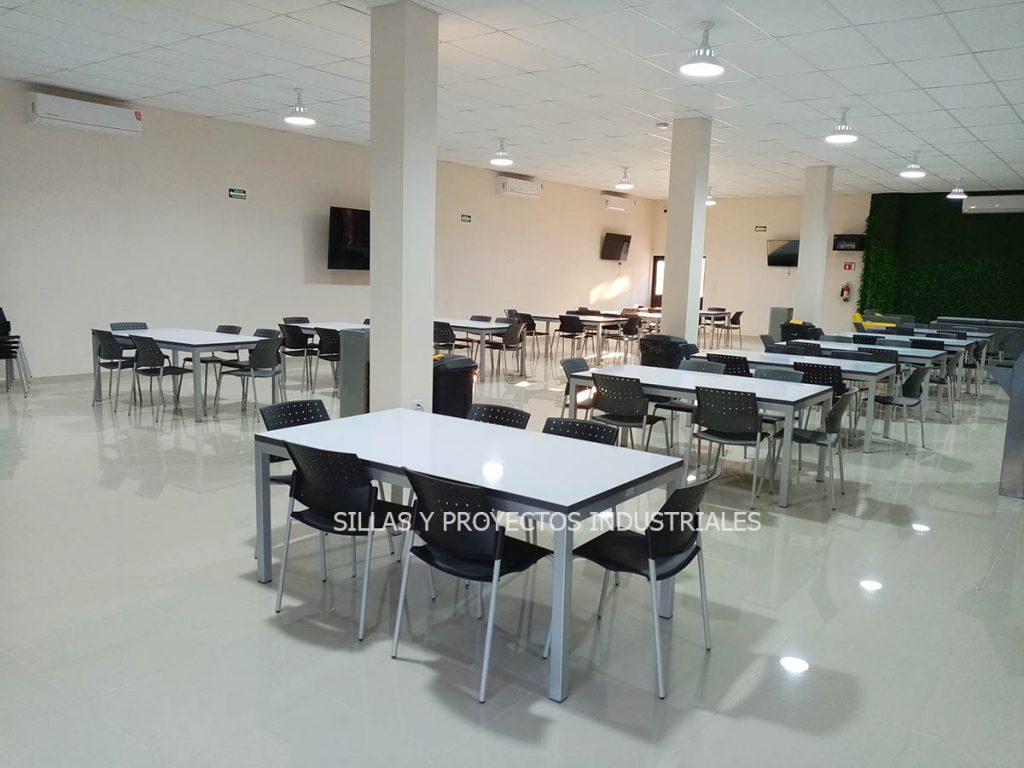 sillas y mesas para comedores industriales mexico