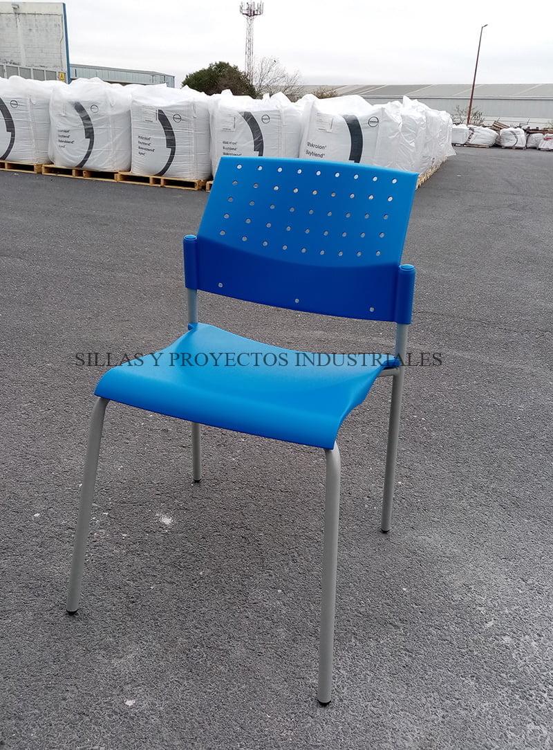 Silla ART azul uso comedores y cafeterías industriales