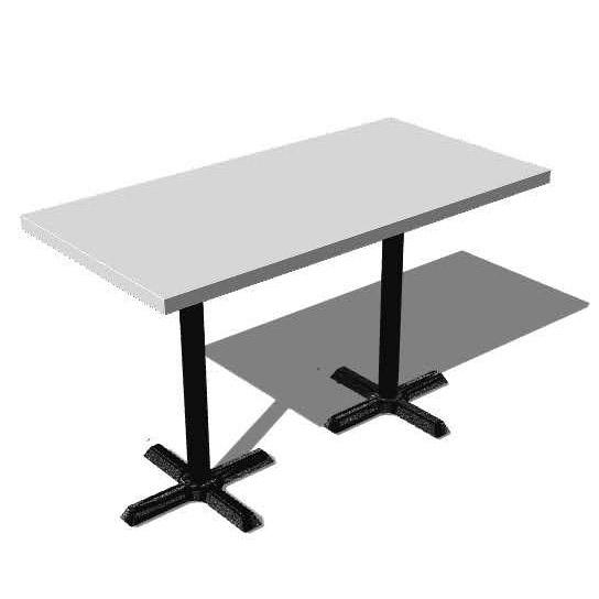 Mesa rectangular para 6 personas blanco y negro