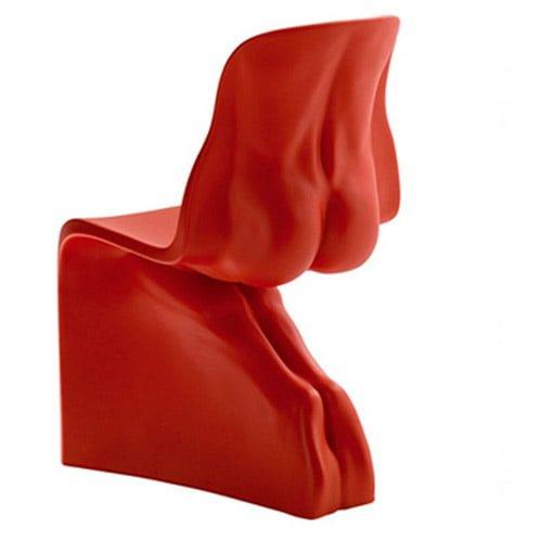 Silla color rojo italiana diseño HER