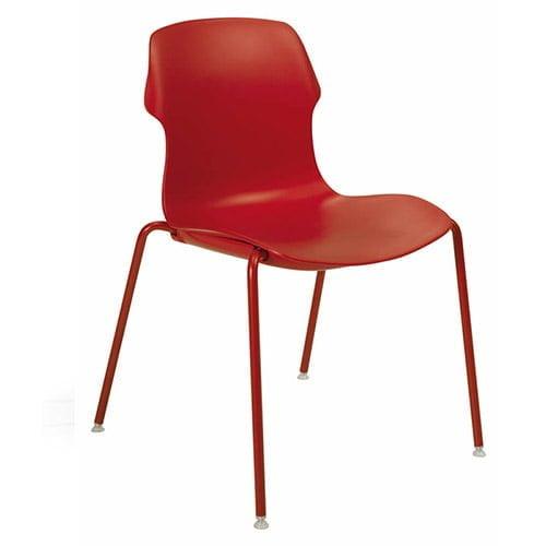 Silla color rojo para cafeterias y restaurantes italiana