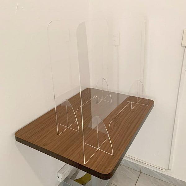 Barrera fisica acrilico para comedores y cafeterias