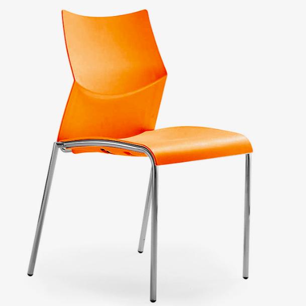Silla naranja nizza para comedores y cafeterias