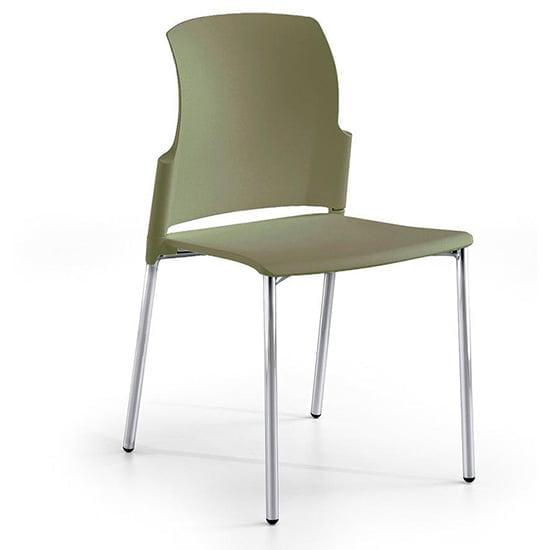 Silla class verde y gris para comedores y cafeterias