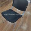 Silla negro base trineo para comedores