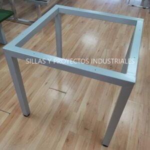 Base para mesa cuadrada color gris